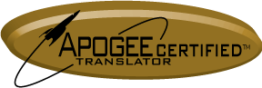 Announcing Apogee Certified Translators
